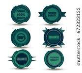 green badge vector food logo... | Shutterstock .eps vector #672323122