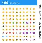 creative icon set   emoticons   Shutterstock .eps vector #672343306