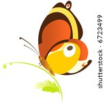butterfly | Shutterstock .eps vector #6723499