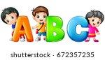 vector illustration of little... | Shutterstock .eps vector #672357235