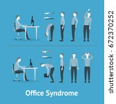office syndrome correct or... | Shutterstock .eps vector #672370252