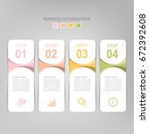 infographic template of four... | Shutterstock .eps vector #672392608
