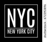 new york city. ny t shirt print ... | Shutterstock .eps vector #672392896
