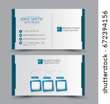 business card set template for... | Shutterstock .eps vector #672394156