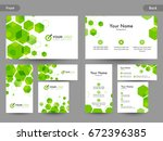 creative business card ... | Shutterstock .eps vector #672396385