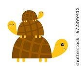 Three Turtle Tortoise Pyramid...