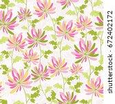 seamless floral pattern....   Shutterstock .eps vector #672402172