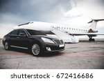 business class service at the... | Shutterstock . vector #672416686