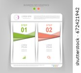 infographic template of two... | Shutterstock .eps vector #672421942