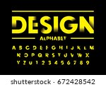 vector of modern abstract font... | Shutterstock .eps vector #672428542