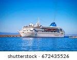 celestyal nefeli one ofthe... | Shutterstock . vector #672435526