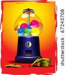 vector candy slot machine   Shutterstock .eps vector #67243708