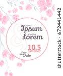 invitation bridal shower card...   Shutterstock .eps vector #672441442