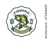 fishing bass logo template   Shutterstock .eps vector #672446605