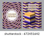 purple orange color scheme book ... | Shutterstock .eps vector #672451642