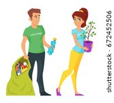 vector cartoon style... | Shutterstock .eps vector #672452506