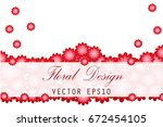postcard with paper flowers.... | Shutterstock .eps vector #672454105