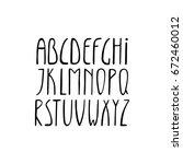 alphabet  thin high letters set ... | Shutterstock .eps vector #672460012