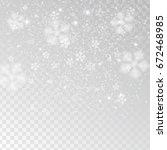 white tender snowflakes  snow... | Shutterstock .eps vector #672468985