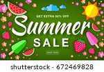 summer sale template horizontal ... | Shutterstock .eps vector #672469828