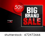 big brand sale illustration... | Shutterstock .eps vector #672472666