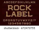 rock label typeface font.... | Shutterstock .eps vector #672473755