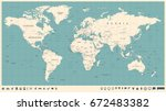 world map vector vintage. high... | Shutterstock .eps vector #672483382