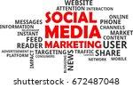 a word cloud of social media...   Shutterstock .eps vector #672487048