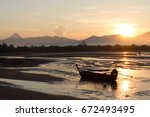 a lovely morning sea with a... | Shutterstock . vector #672493495