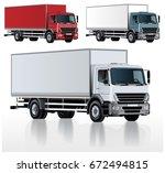 vector realistic truck template ...   Shutterstock .eps vector #672494815