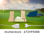energy production resource | Shutterstock . vector #672495088