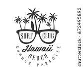 hawaii beach  summer paradise...   Shutterstock .eps vector #672495892