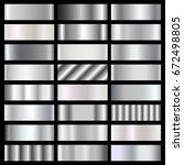 silver  steel  chrome gradients ... | Shutterstock .eps vector #672498805