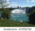 beautiful view of niagara falls.   Shutterstock . vector #672502762