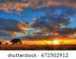 nullarbor plain  australia | Shutterstock . vector #672502912