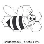 honey bee | Shutterstock .eps vector #672511498