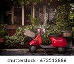 traditional transport holiday... | Shutterstock . vector #672513886