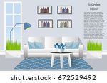 the interior of the living room.... | Shutterstock .eps vector #672529492