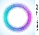 geometric frame from circles ... | Shutterstock .eps vector #672532012