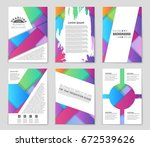 abstract vector layout... | Shutterstock .eps vector #672539626