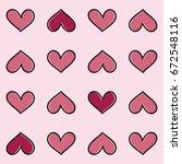 heart shape seamless pattern   Shutterstock .eps vector #672548116