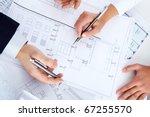 close up of engineers hands...   Shutterstock . vector #67255570