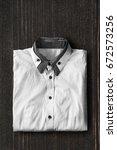 white and black elegant shirt... | Shutterstock . vector #672573256