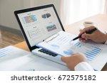 businessman working plan the... | Shutterstock . vector #672575182