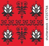 ornament on a red background | Shutterstock . vector #67257766