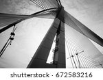 modern bridge architecture | Shutterstock . vector #672583216