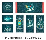 design web banners of different ... | Shutterstock .eps vector #672584812