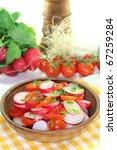 fresh radish and tomato salad... | Shutterstock . vector #67259284