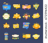 summer sale web banner ... | Shutterstock .eps vector #672596422