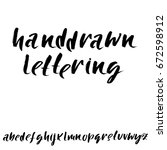hand drawn dry brush font.... | Shutterstock .eps vector #672598912